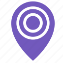 dot, map, object, point, target icon