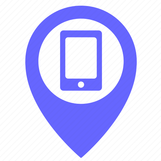 call, map, object, phone, pointer, smartphone icon