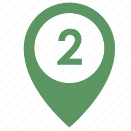 map, number, object, point, two, way icon