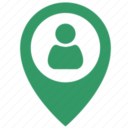 login, man, map, object, point, pointer, user icon