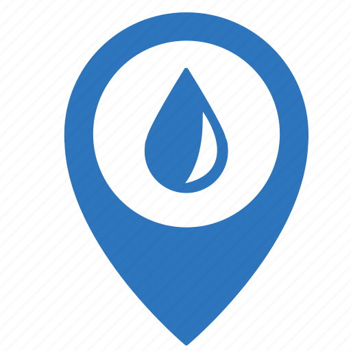 drop, map, object, point, rain, water icon