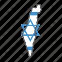 israel, map, flag, country, travel, star, david