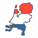 map, netherlands, netherland, flag, country, travel, geography