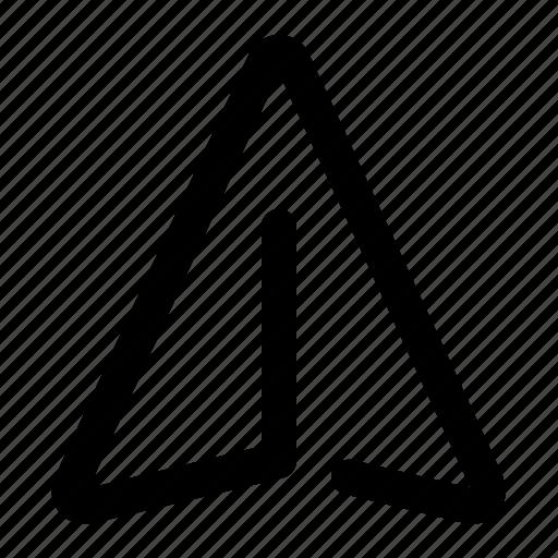 Cursor, arrow, location, navigation, gps, direction, pointer icon - Download on Iconfinder