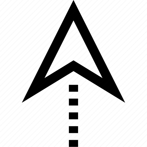 arrow, gps, locate, pin icon