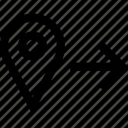 arrow, go, now, point icon