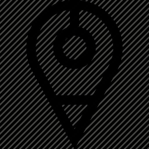 gps, pin, point, pointer icon