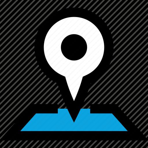 google, map, pin icon