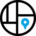 find, map, pin icon
