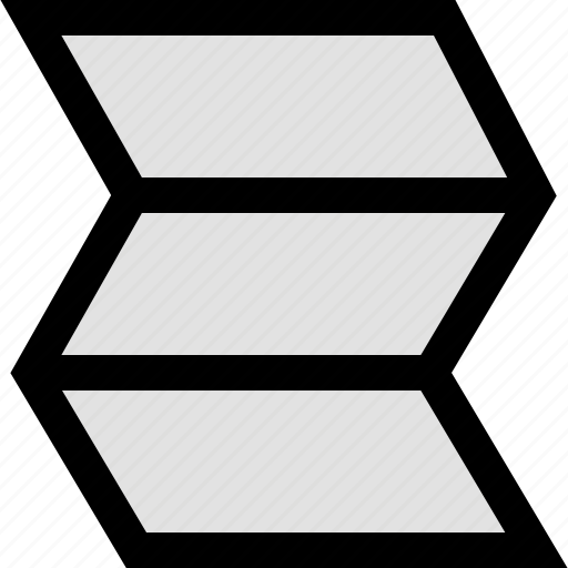 folded, map, online icon