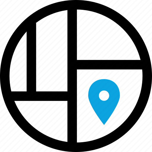 map, mind, pin icon