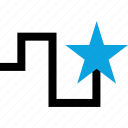 direction, save, star icon