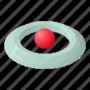 destination, isometric, logo, map, object, pin, round