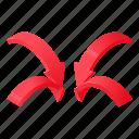arrow, destination, isometric, logo, map, object, pin