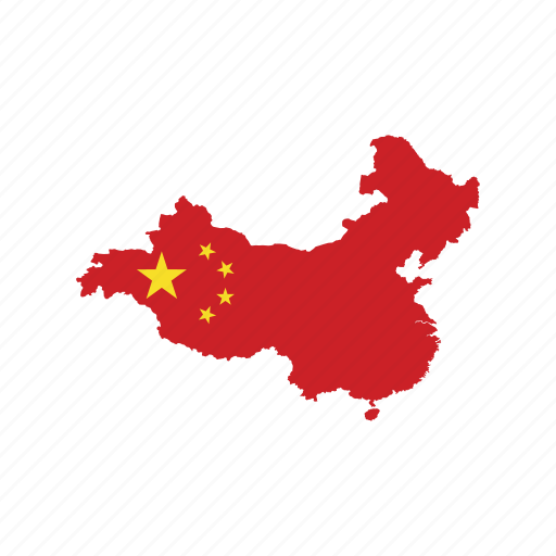 China Flag Map World Icon