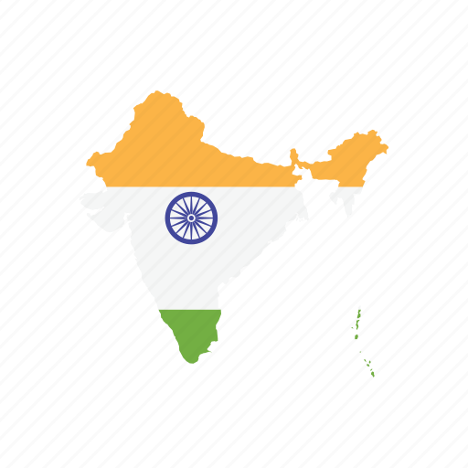 India Map Flag.Flag India Map World Icon