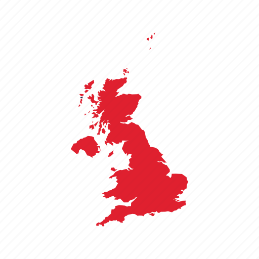 Flag Map Uk World Icon