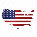 map, flag, usa, world