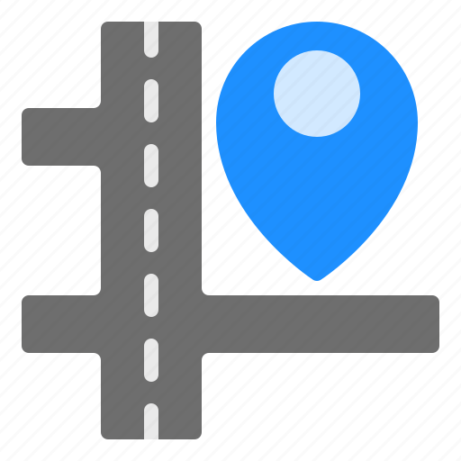 destination, location, map, pin, road icon