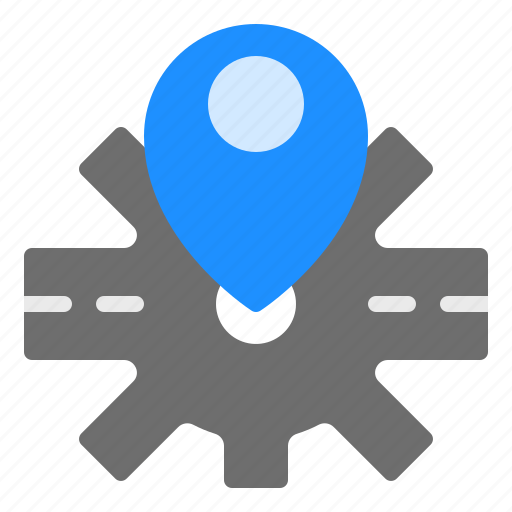 Gps, location, map, pin, road icon - Download on Iconfinder