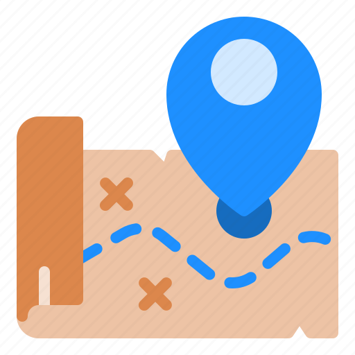 Location, map, pin, pirate, treasure icon - Download on Iconfinder