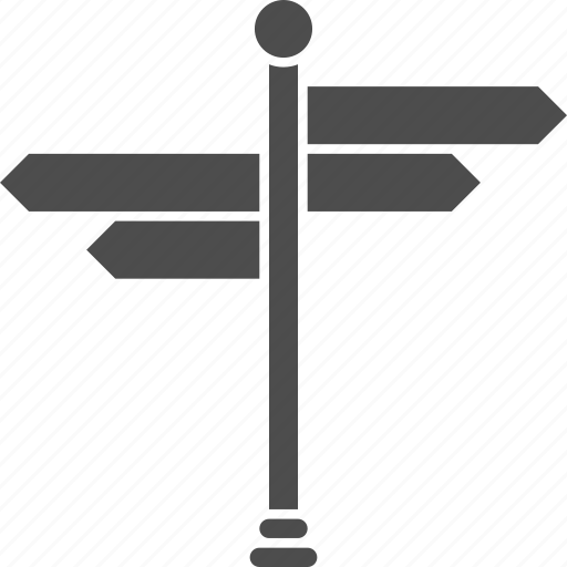 arrow, direction, directions, navigate, navigation, path, pointer, sign post, signs, wayfinding, ways icon
