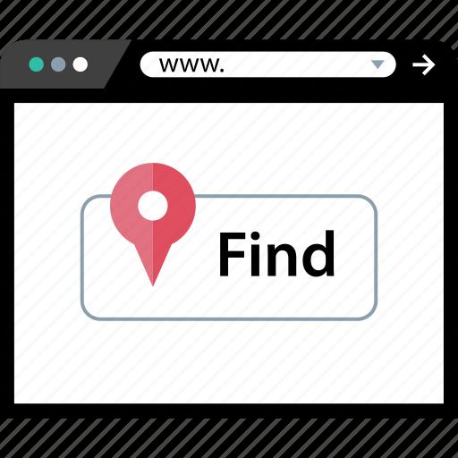 bttn, find, online, web icon