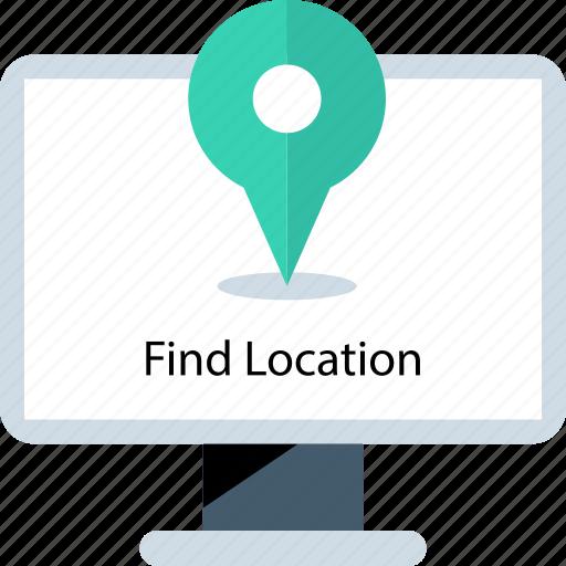 find, location, online, pc icon