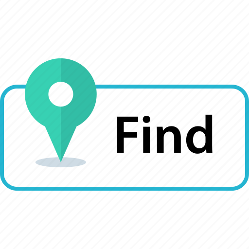 find, locate, map, pin icon