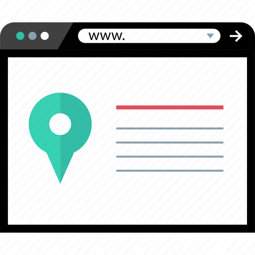 directions, online, web icon