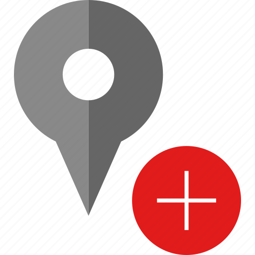 add, gps, more, pin icon