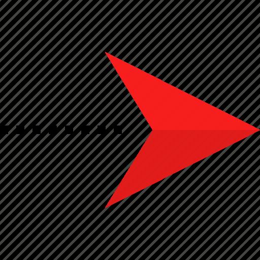 arrow, go, right icon