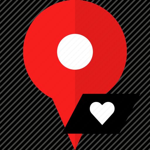 favorite, gps, save icon