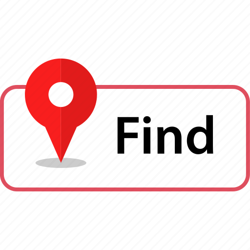 find, gps, location icon