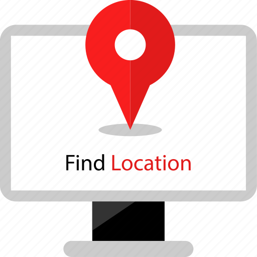 find, location, web icon