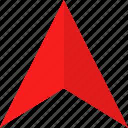 arrow, google, pin, up icon