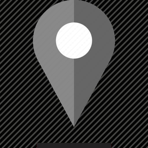 google, pin, shadow icon