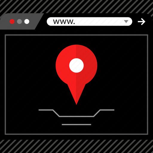 gps, location, www icon