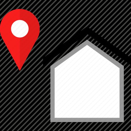gps, home, house, pin icon