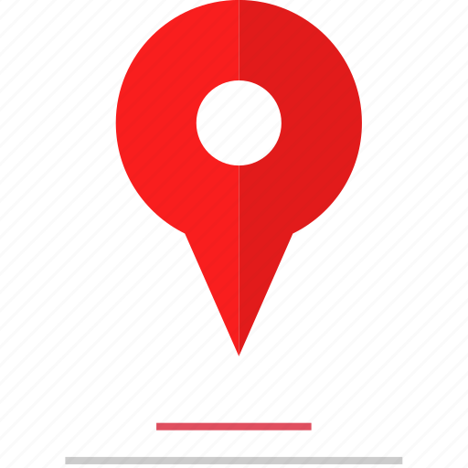 gps, lines, pin icon