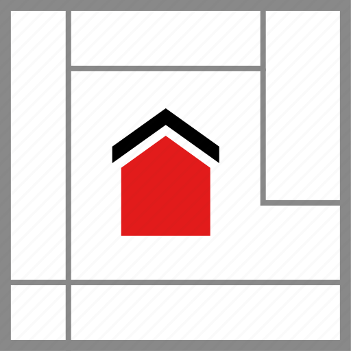 home, house, map icon
