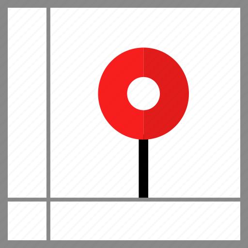 google, locate, pin icon