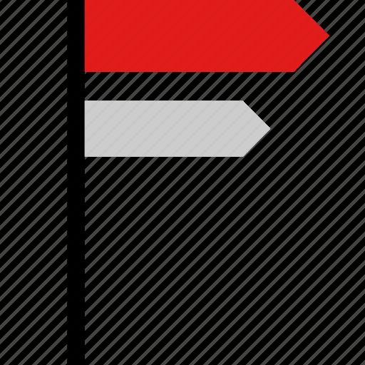 location, road, sign icon
