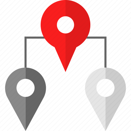 locate, map, pin icon