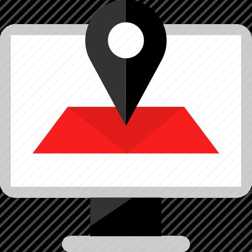 location, mac, map, pin icon