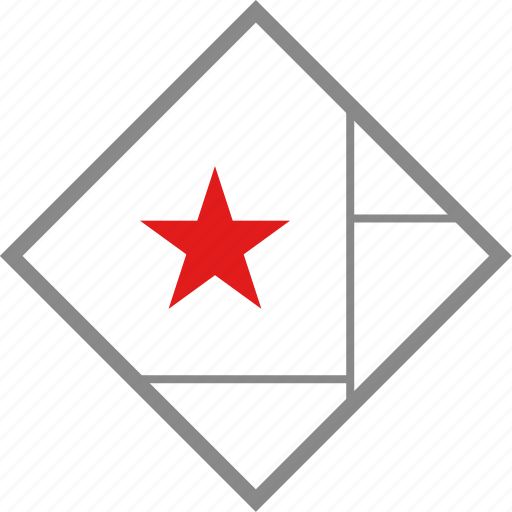 cube, map, star icon