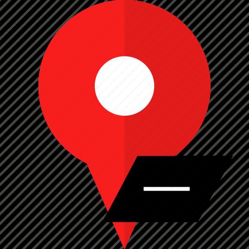 location, negative, pin icon