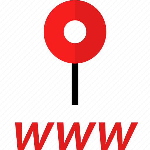 online, pin, web, www icon