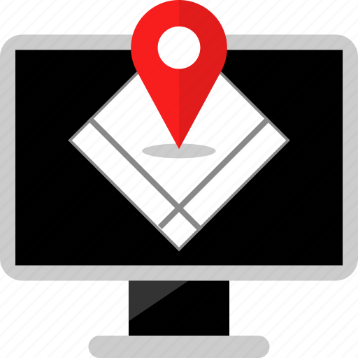 connection, google, pin icon