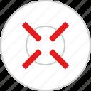 cross, target, x icon